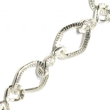 1 meter x figure 8 with link silver plated chain -- 6523019